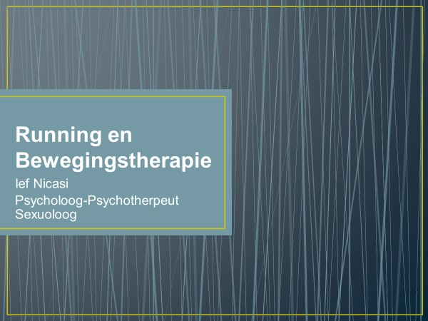 Running en bewegingstherapie